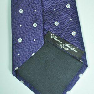 $295 Cesare Attolini Napoli Purple 100% Silk Tie